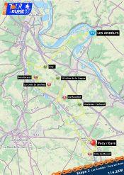 Carte étape 2 Tour de l'Eure Juniors 2021